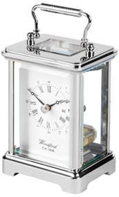 1432 - Woodford Obis Quartz Carriage Clock - Chrome